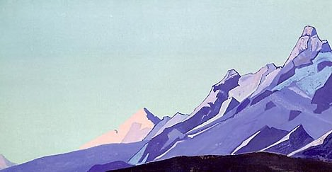 The Himalayas (evening) # 59. Roerich N.K. (Part 4)