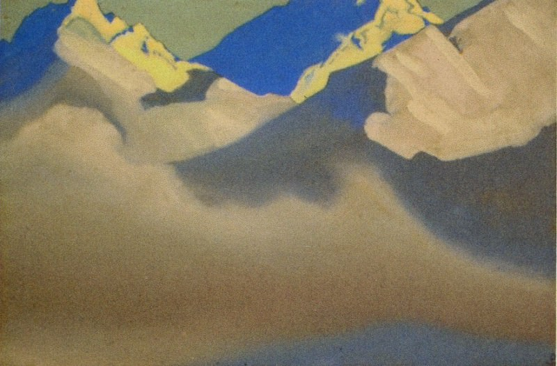 The Himalayas # 71 The birth of the clouds. Roerich N.K. (Part 4)