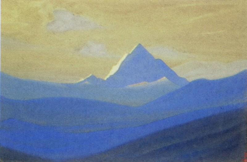 Himalayas # 99 Lonely peak at dawn. Roerich N.K. (Part 4)