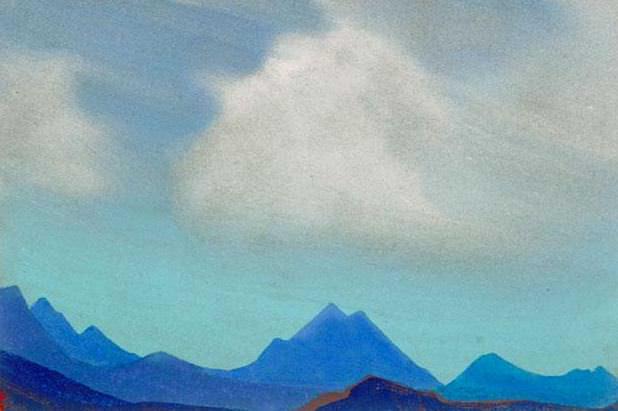 Гималаи #80 Облака над горами. Рерих Н.К. (Часть 4)