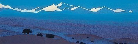 Nan-Shan # 204 (Nanshan. Tibet boundary). Roerich N.K. (Part 4)