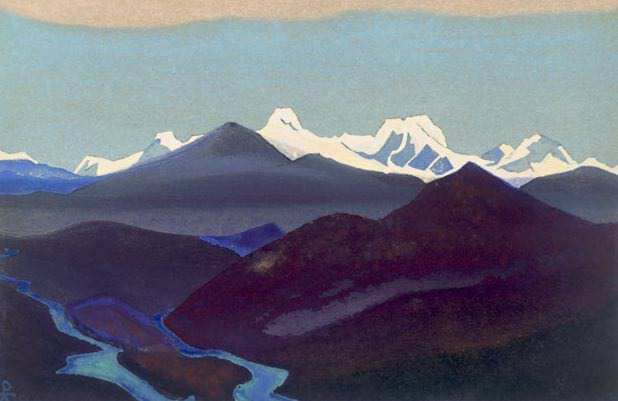 Tibet # 168 Tibet (The phenomenon of eternal snow). Roerich N.K. (Part 4)