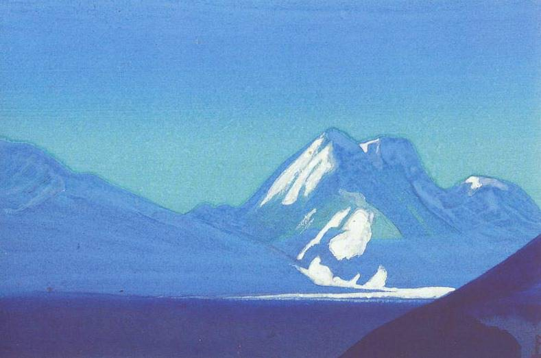 The Himalayas # 197 Sapphire Mountains. Roerich N.K. (Part 4)