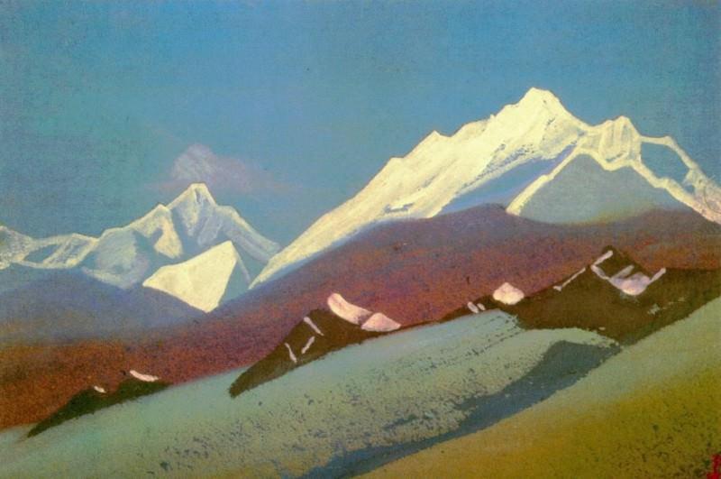 Himalayas # 59 Whitening peaks. Roerich N.K. (Part 4)