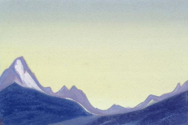 The Himalayas # 190 The morning sky above the mountains. Roerich N.K. (Part 4)