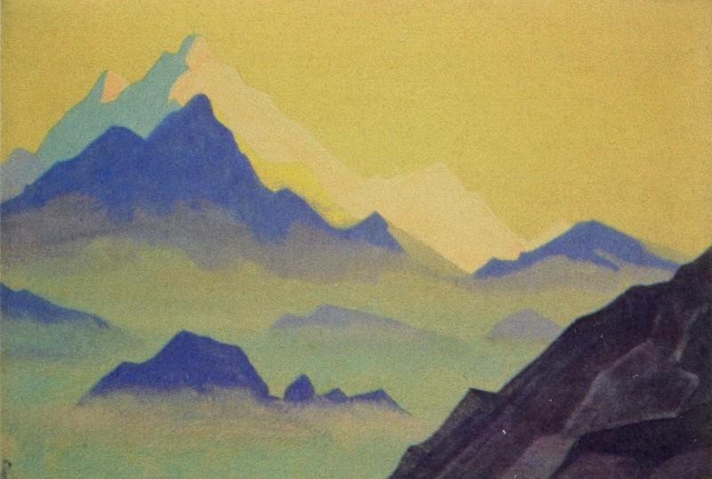 Mists # 5 mists (Pink peaks). Roerich N.K. (Part 4)