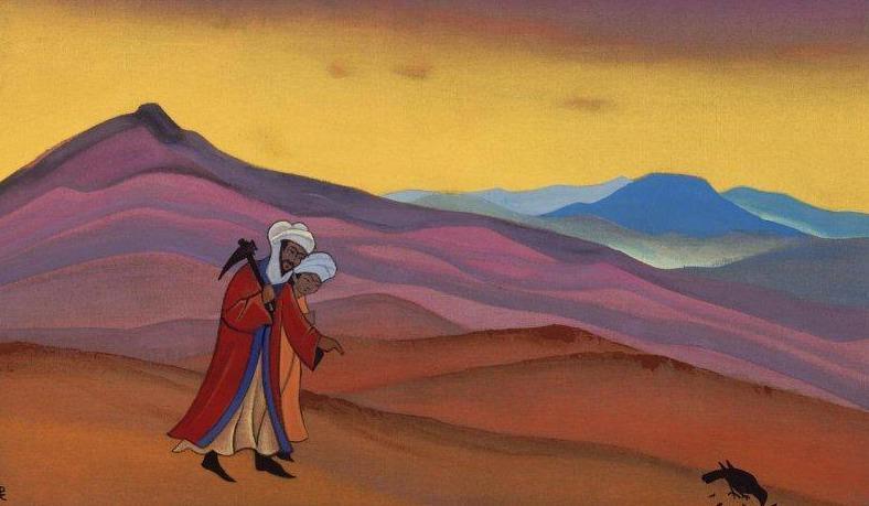 Abdal-Muttalib is looking for water. Zamzam # 223 Abd al-Muttalib is looking for water (Khosrov and Shirin). Roerich N.K. (Part 4)