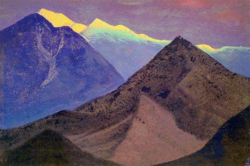 Тибет #30 Тибет (Темные вершины. Вечер). Рерих Н.К. (Часть 4)