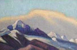 The Himalayas (Pink sunset over the peaks). Roerich N.K. (Part 4)