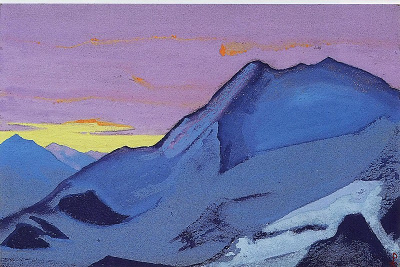 Himalayas # 86 Ascent. Roerich N.K. (Part 4)