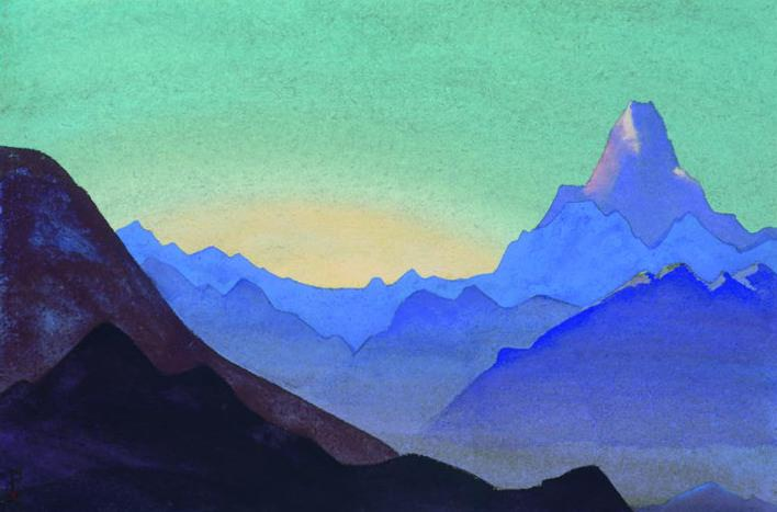 Himalayas. Dawn # 56. Roerich N.K. (Part 4)