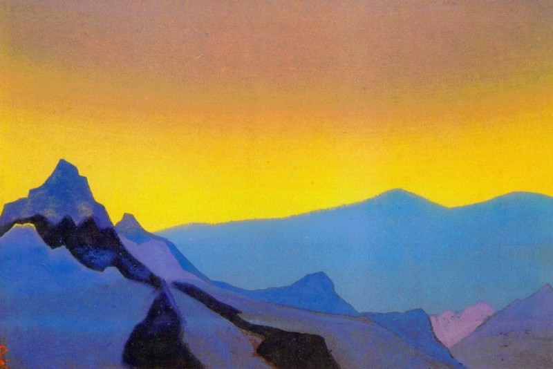 Himalayas. Evening # 157 (Evening mountains). Roerich N.K. (Part 4)