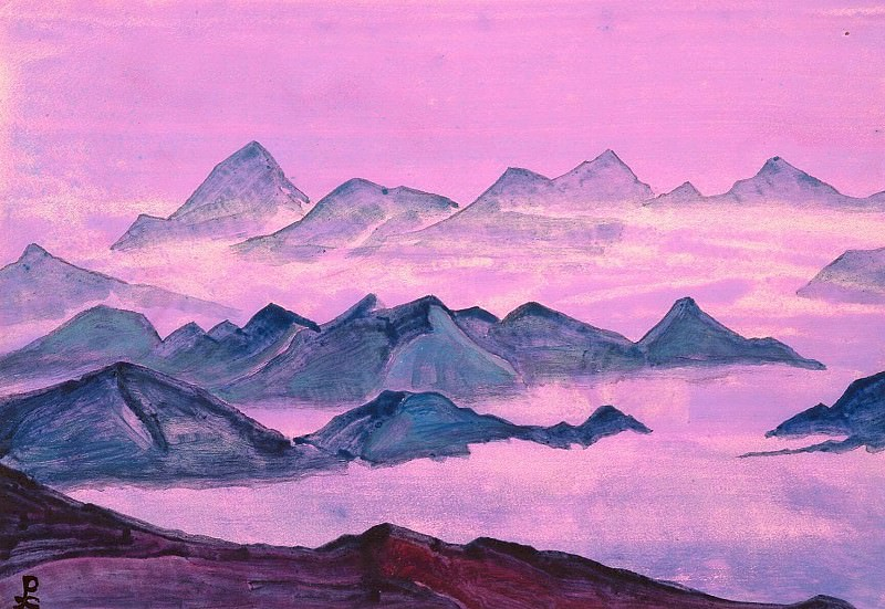 The Himalayas (Album Sheet). Roerich N.K. (Part 4)