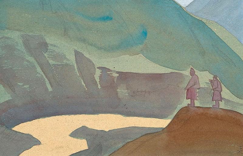 Chandra River. Sketch # 67. Roerich N.K. (Part 4)