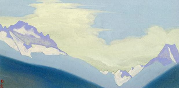 The Himalayas # 193 The High Pass. Roerich N.K. (Part 4)