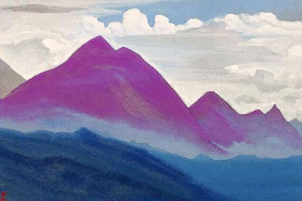 The Himalayas # 128 Lilac magic. Roerich N.K. (Part 4)
