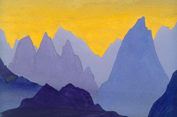 Drakensberg teeth # 109 Drakensberg teeth (Harmony paints and rocks). Roerich N.K. (Part 4)
