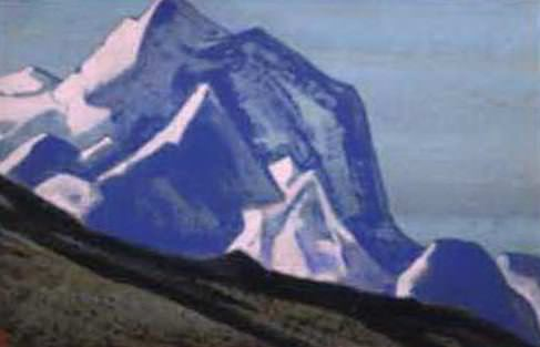 The Himalayas # 74 Peaks on the turquoise sky. Roerich N.K. (Part 4)