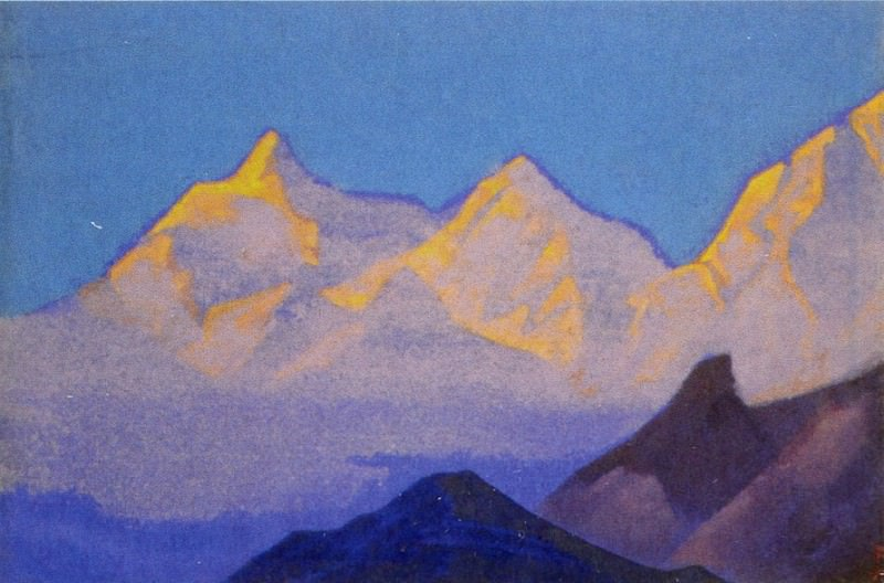 The Himalayas # 17 The mossy mountains. Roerich N.K. (Part 4)