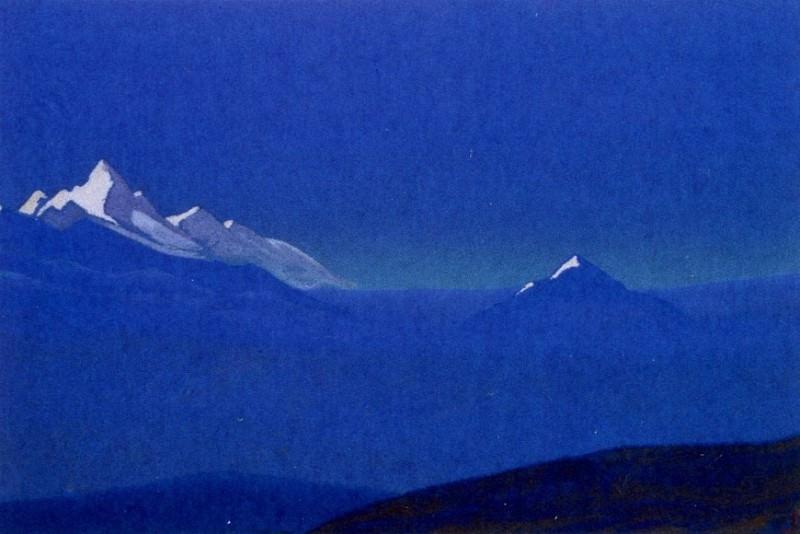Mongolia # 189 (Himalayas. Sunrise). Roerich N.K. (Part 4)