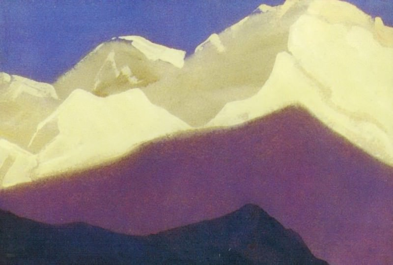 The Himalayas # 131 The snow on the tops. Roerich N.K. (Part 4)