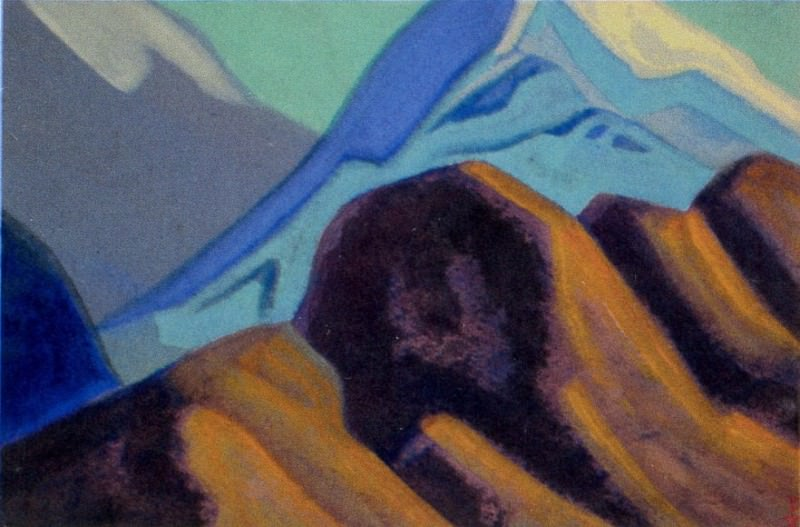 Himalayas # 100 Spurs of the ridge. Roerich N.K. (Part 4)