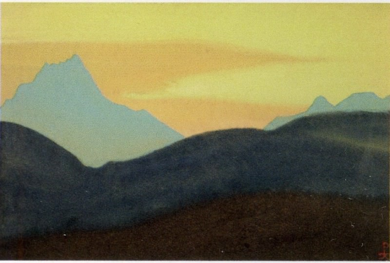 The Himalayas # 160 The Golden Dawn. Roerich N.K. (Part 4)