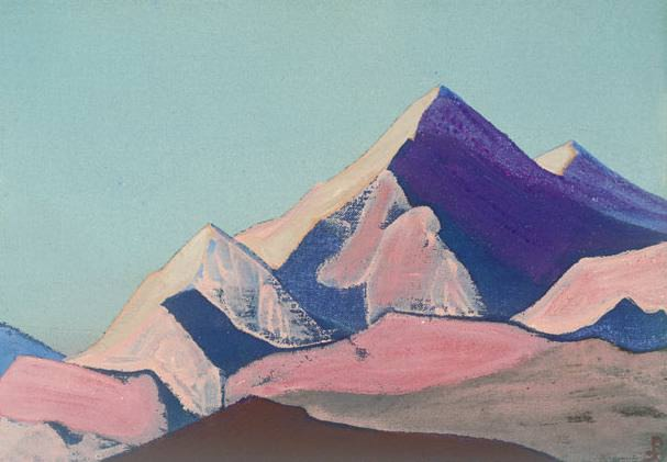 The Himalayas (sketch) # 89. Roerich N.K. (Part 4)