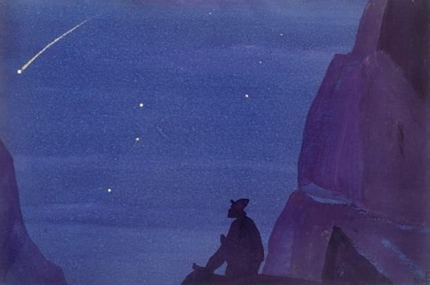Night (PGCs.) # 57 (Night (Star hero) sketch.). Roerich N.K. (Part 4)