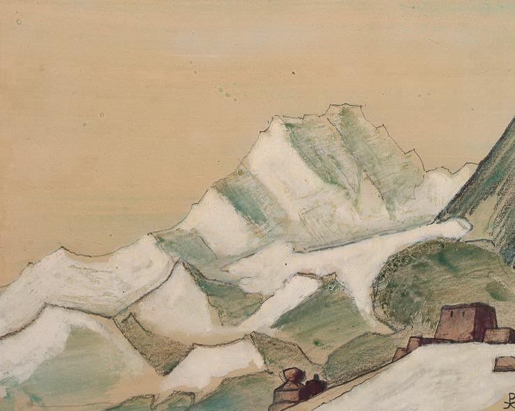 The Himalayas Sky-clouds (sketch) # 77. Roerich N.K. (Part 4)