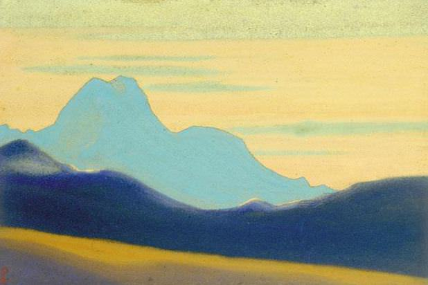 The Himalayas # 159 The Blue Silhouette. Roerich N.K. (Part 4)