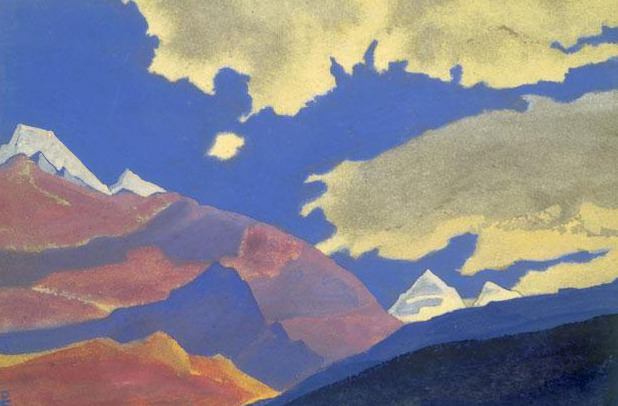 Clouds and mountains # 32. Roerich N.K. (Part 4)