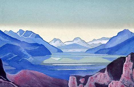 Горное озеро. Рерих Н.К. (Часть 4)