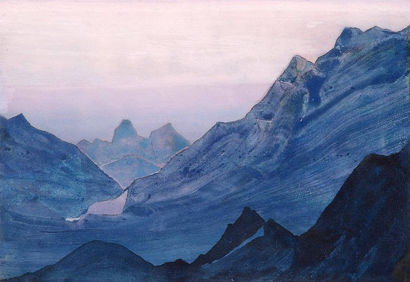 Himalayas album leaf (3). Roerich N.K. (Part 4)