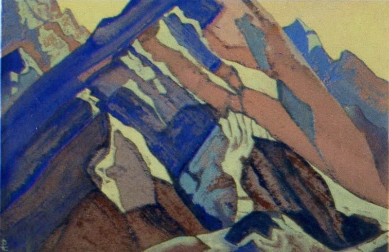 Himalayas # 97 Ranges of rocks. Roerich N.K. (Part 4)