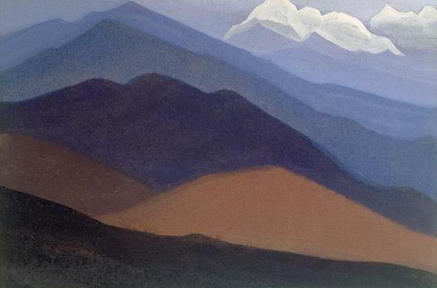 Himalayas # 51 mountain desert. Roerich N.K. (Part 4)