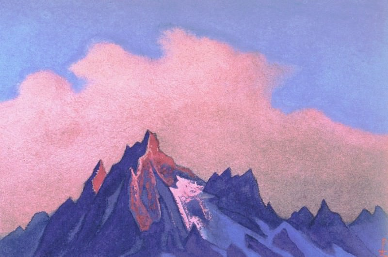 The Himalayas (Pink cloud over the tops). Roerich N.K. (Part 4)