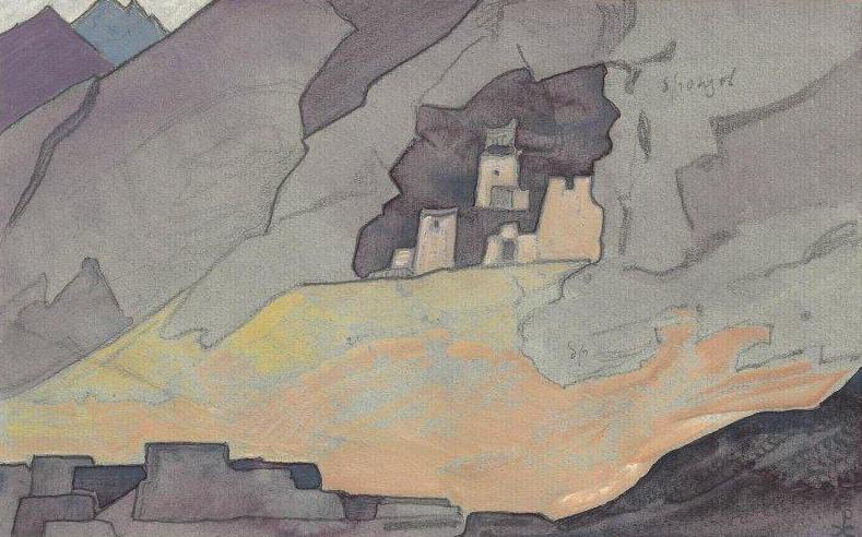 "Sketch for the painting ""Koksarai». Roerich N.K. (Part 4)"