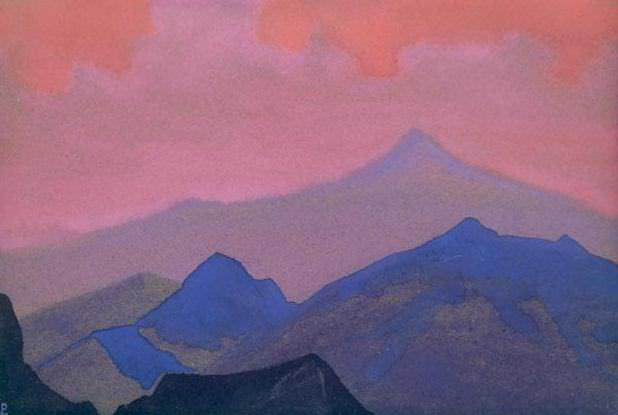Himalayas. Evening # 220. Roerich N.K. (Part 4)