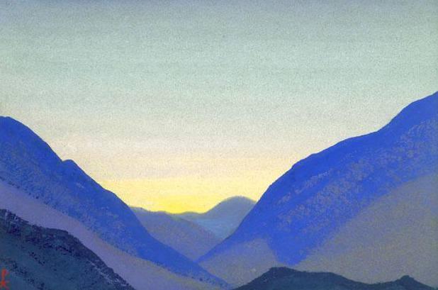 Гималаи #178 Синие склоны. Рерих Н.К. (Часть 4)