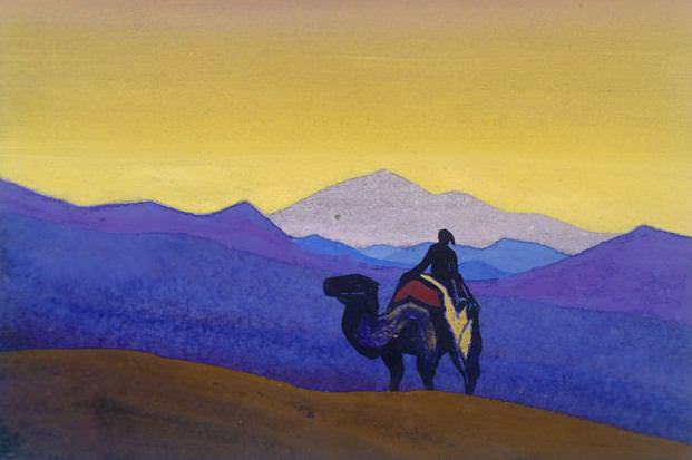 Ship of the desert # 203 Ship of the desert (The lonely traveler). Roerich N.K. (Part 4)