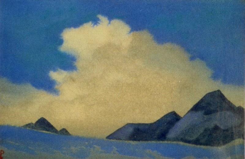 Гималаи #84 Облако над уступами. Рерих Н.К. (Часть 4)