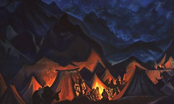 Whispers of Desert (Tibetan Camp). Roerich N.K. (Part 4)