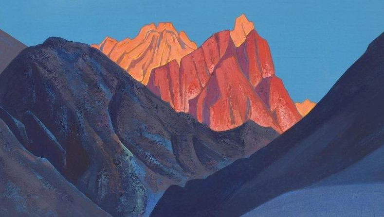 Sunset. Holy Mountains. Himalaya. Roerich N.K. (Part 4)