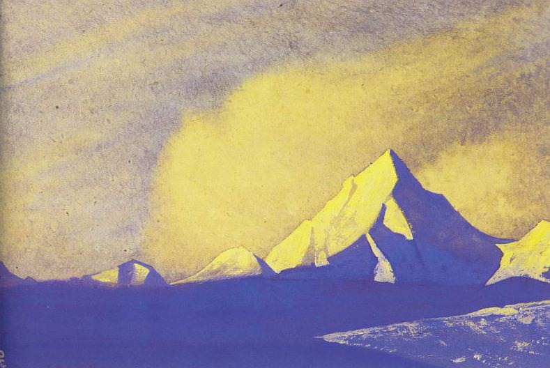 The Himalayas # 43 Gold of the Dawn. Roerich N.K. (Part 4)