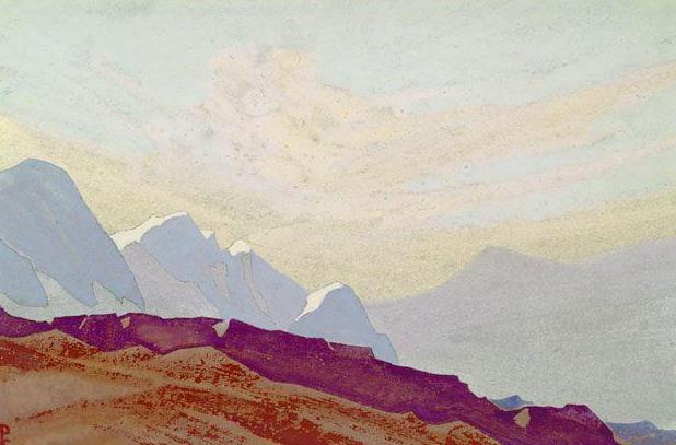 The Himalayas # 173 The lilac slope of the snows. Roerich N.K. (Part 4)