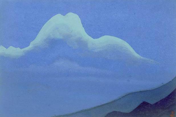The Himalayas # 161 The Phantom Landscape. Roerich N.K. (Part 4)