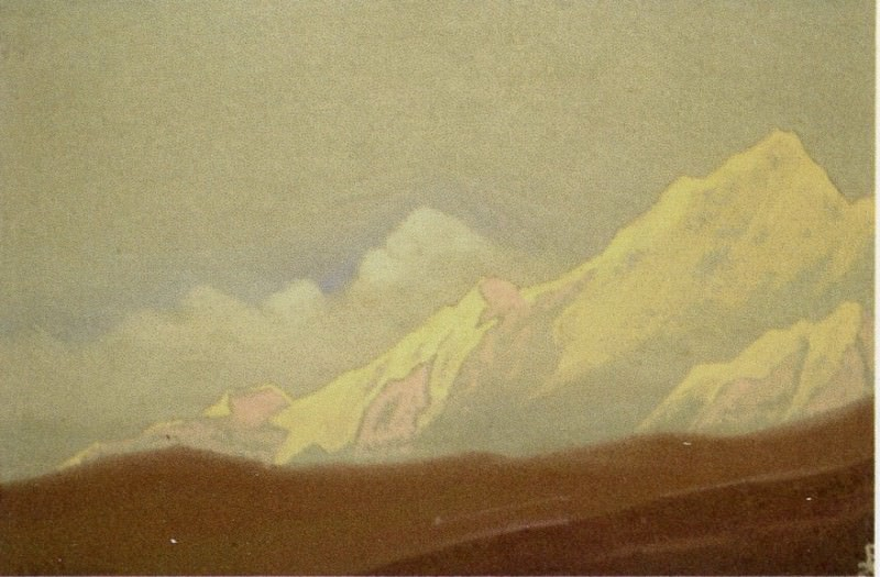 The Himalayas # 188 Morning. Roerich N.K. (Part 4)