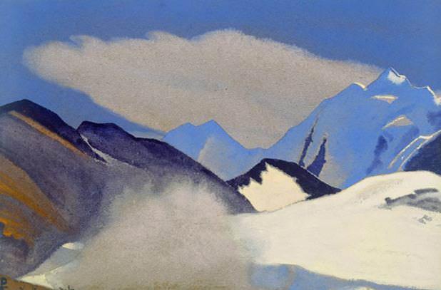 Langres # 129 Langres (beyond the clouds). Roerich N.K. (Part 4)