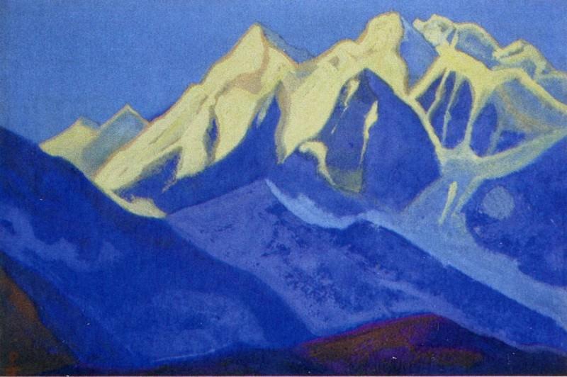 Kanchenjunga # 19 Kanchenjunga (Three sparkling vertex). Roerich N.K. (Part 4)